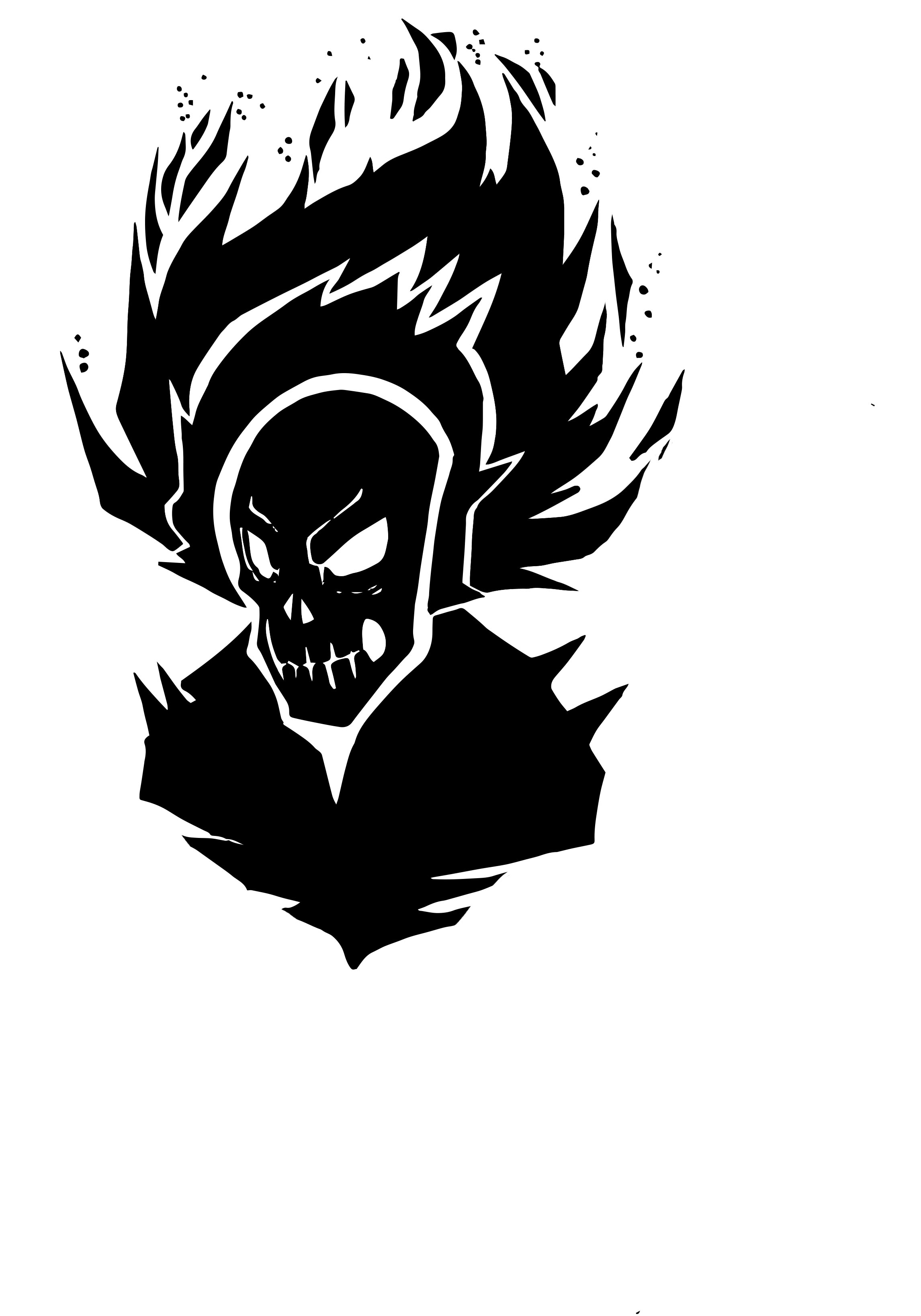 ghost rider silhouette 2 psd