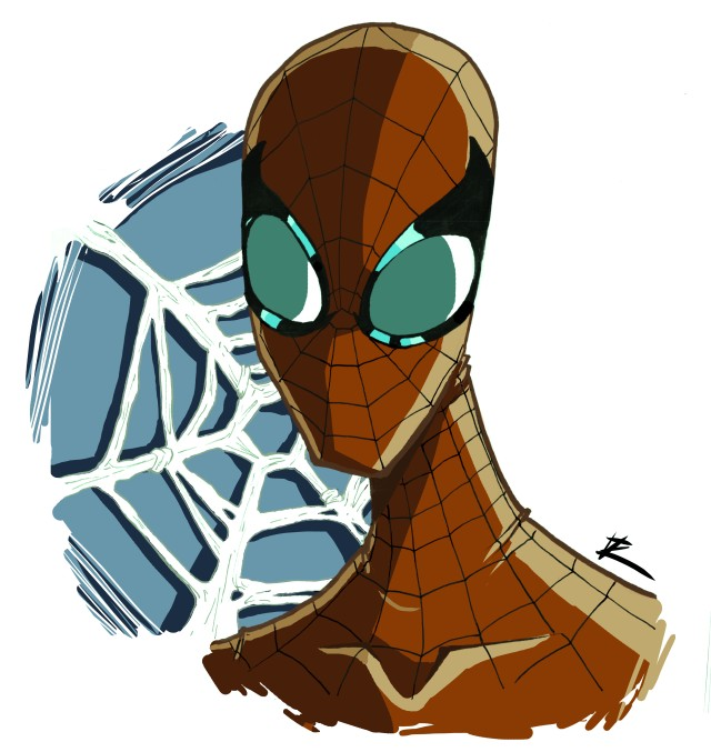 Spider-Man Head Sketch