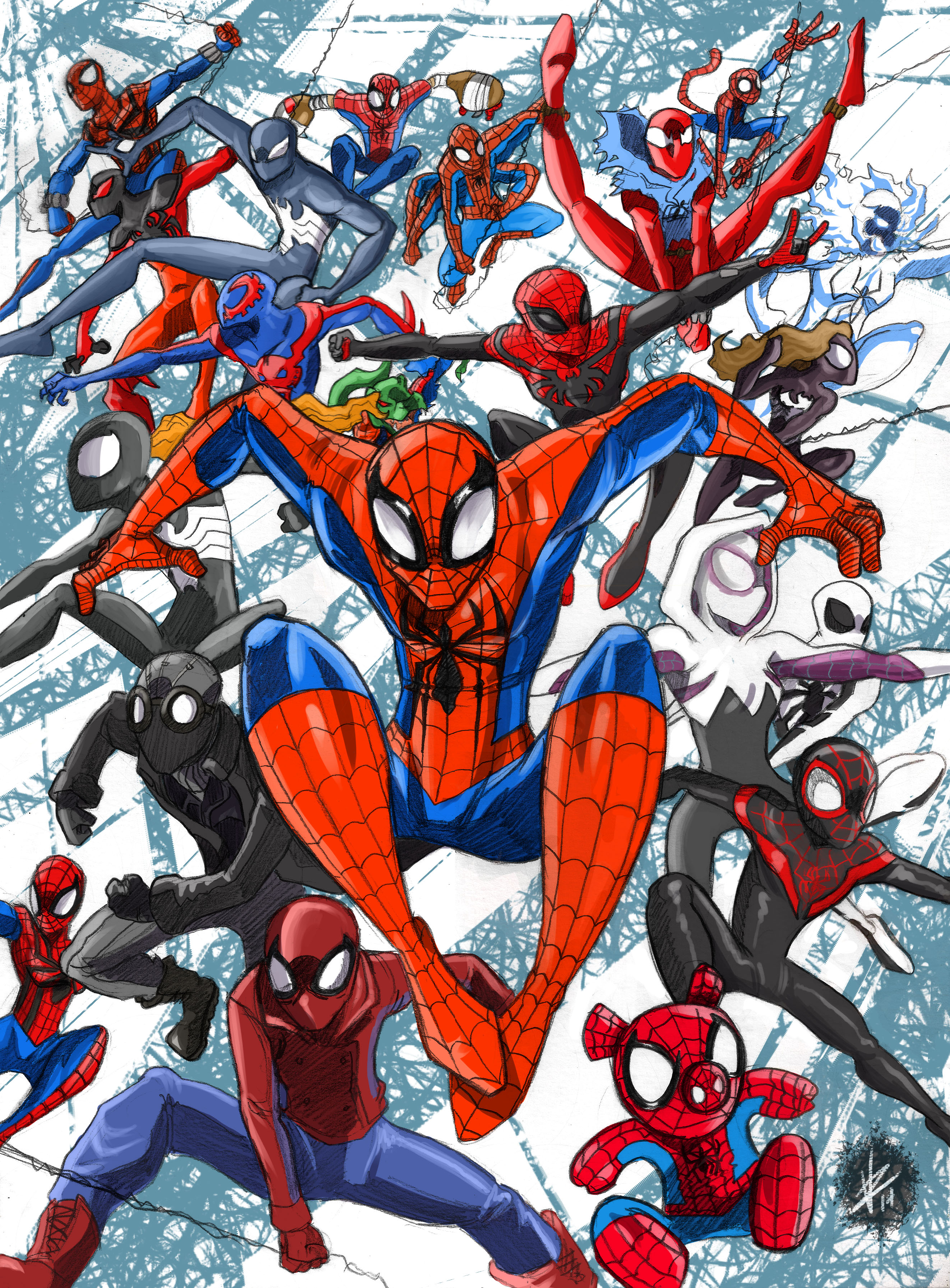 spiderverse Mangaverse Spider Man Wallpaper