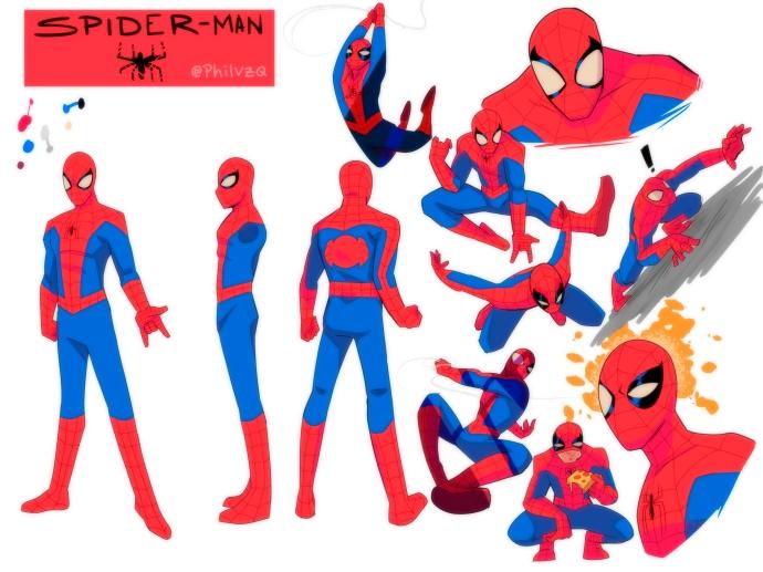 Spider-Man character sheet